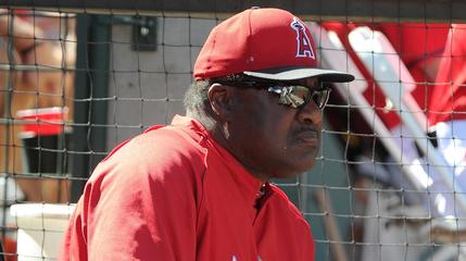 News video: Angels Coach Don Baylor Breaks Leg During Ceremonial First Pitch